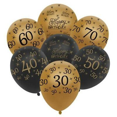 30th Birthday Balloons (10pcs 12