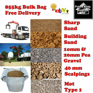 bulk bag building sharp sand 10mm pea gravel scalpings mot. Black Bedroom Furniture Sets. Home Design Ideas