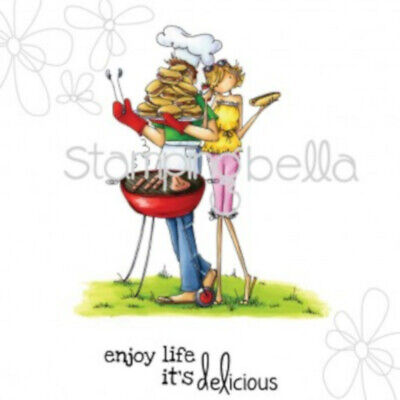 """Stempel """"Uptown Couple Bella and Barney have a Barbecue"""" Stamping Bella, grillen"""
