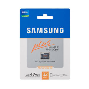 samsung plus 32gb micro sd sdhc microsd card class 10 48mb. Black Bedroom Furniture Sets. Home Design Ideas