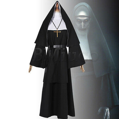 The Conjuring Scary Suit Women Dress For The Nun Valak Cosplay Costume Nun Dress](Scary Halloween Costumes For Ladies)