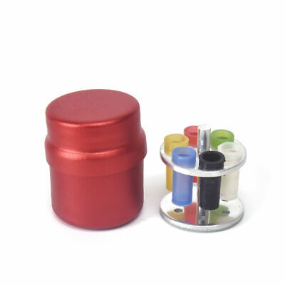 Dental 6 Holes Red Endodontic Organizer Container Paper Gutta Percha Aluminum
