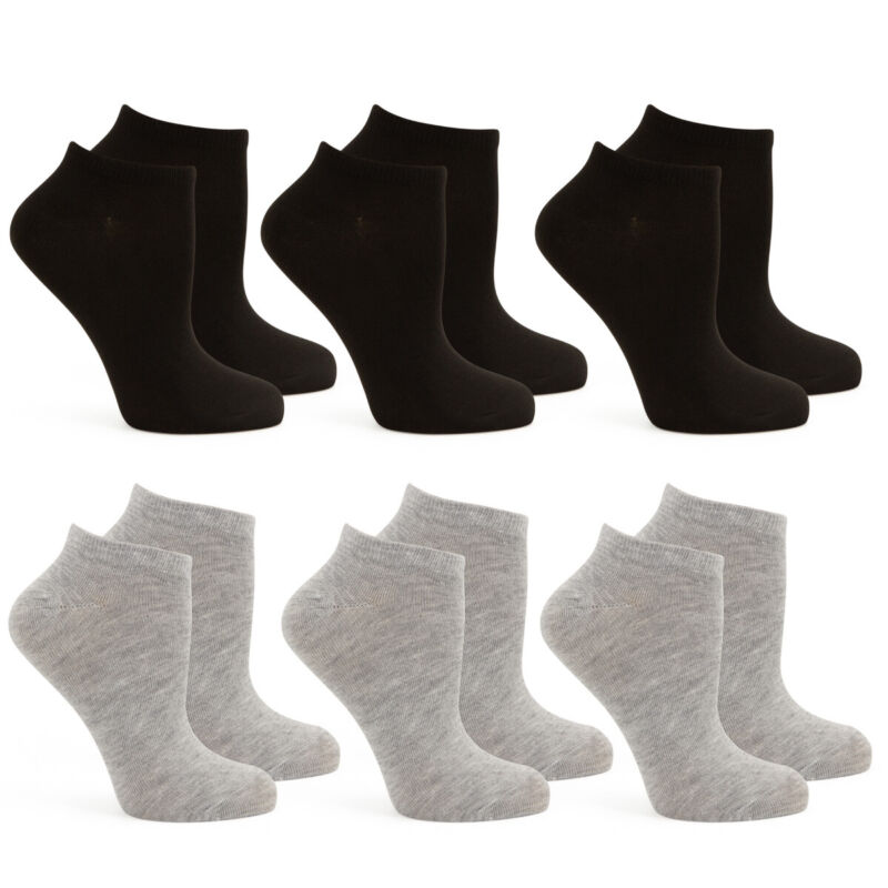 Hanes Womens No Show, Low Cut, Ankle Socks, Lightweight, 6 Pair Pack
