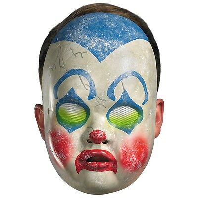 Creepy Clown Mask Adult Scary Baby Doll Halloween Costume Fancy Dress (Baby Scary Halloween Costumes)