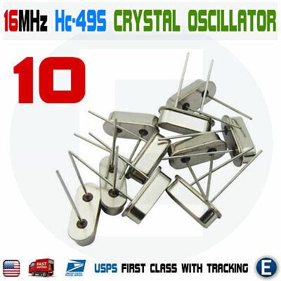 10pcs 16mhz 16.000 Hz Hc-49s Crystal Oscillator Quartz Passive Arduino Raspberry