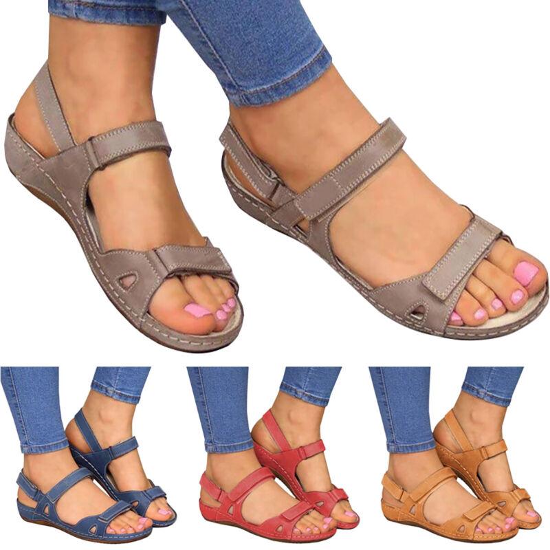 Fashion Women Premium Orthopedic Open Toe Sandals Summer Cas