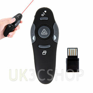 2.4GHz Wireless Remote Control Presenter Presentation USB Laser Pointer Receiver