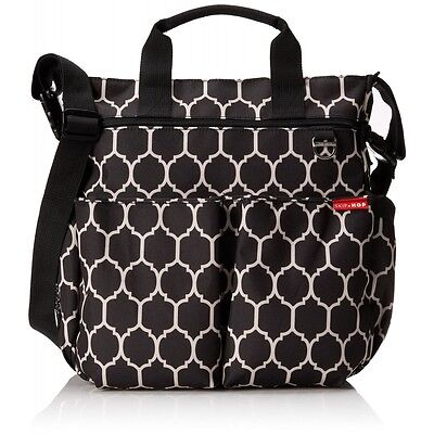 "NEW Skip Hop Duo Signature 3.0 Diaper Bag Onyx Tile - Fits 15"" Laptop"