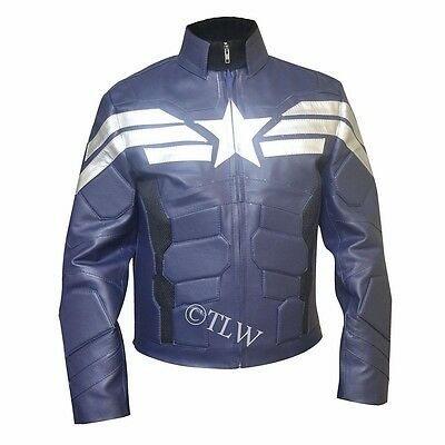 New Avenger 5 Captain America The Winter Soldier Chris Evans FAUX Leather Jacket