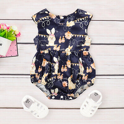 Easter Bunny Outfit (US Toddler Infant Baby Girl Easter Bunny Romper Bodysuit Jumpsuit Clothes)