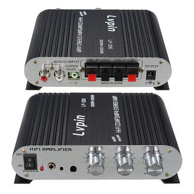 (12V Mini 2 Channel Hi-Fi Stereo Audio Amplifier Amp Car Motorcycle Speaker 20W*2)