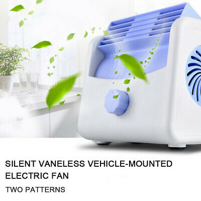 5V USB Air Conditioner Quiet Cooling Fan Silent Portable Cooler Desk Fan UK