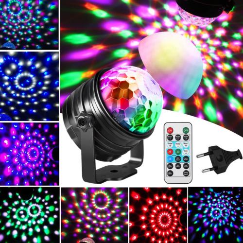 LED Lichteffekt Discokugel Magic RGB DJ Party lichtorgel Bühnenbeleuchtung Lampe