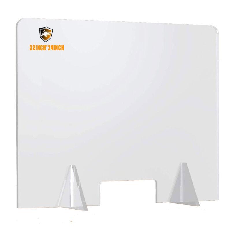 Sneeze Guard Acrylic Plexiglass Table Desk Checkout Counter Shield 32