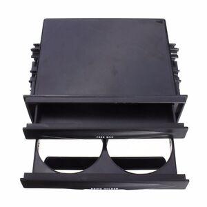 Universal Car Dash Single/Double Din Radio Pocket Kit W/ Cup Holder Storage Box