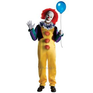 New Licensed Pennywise Clown Costume from IT + Mask with Hair Capalaba Brisbane South East Preview