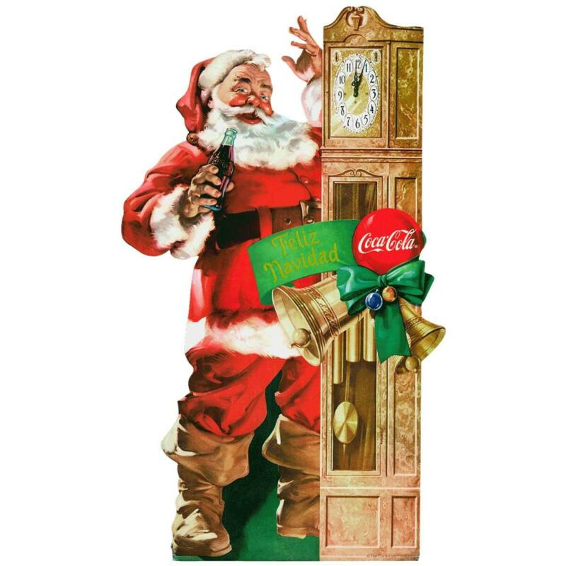 Coca-Cola Santa Grandfather Clock Decal Peel & Stick Graphic