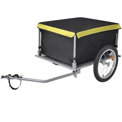 vidaXL Fahrrad Anhänger Lastenanhänger Transportanhänger faltbar Abdeckung 65 kg