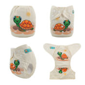 ALVA Baby Cloth Diapers Lot One Size Reusable Washable Pocket Nappies + Inser