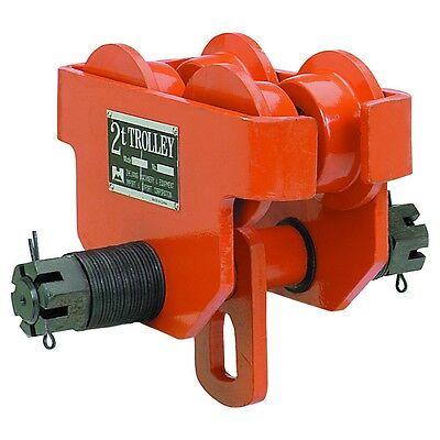 Dual Wheel Adjustable 2 Ton Push Beam Trolley 4000 Lbs Load