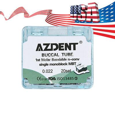 Azdent Dental Orthodontic Buccal Tube Inblock Non-convert 1st Molar Mbt .022