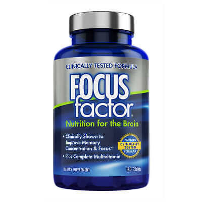 FOCUS factor Nutrition for the Brain Dietary Supplement, 180 Tablets FAST SHIP!!
