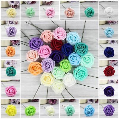 5X 50X Colourfast Foam Roses Artificial Flowers Party Wedding Bouquet Home Decor - Foam Flower