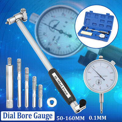 Dial Bore Gauge 50-160mm 0.01mm Bridge Cylinder Internal Bore Measuring Gage Set