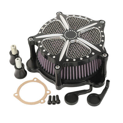 Air Cleaner Intake Filter Motorcycle For Harley FLHT FLSTF FLTR FLHR Touring YM