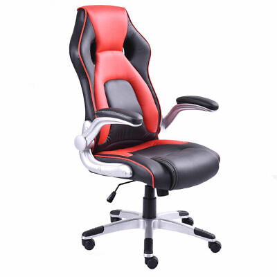 Pu Leather Executive Racing Style Bucket Seat Office Desk Chair Task Computer