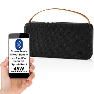 45W Altavoz Bluetooth & Subwoofer -black-wireless Portátil Recargable Bajo Aux