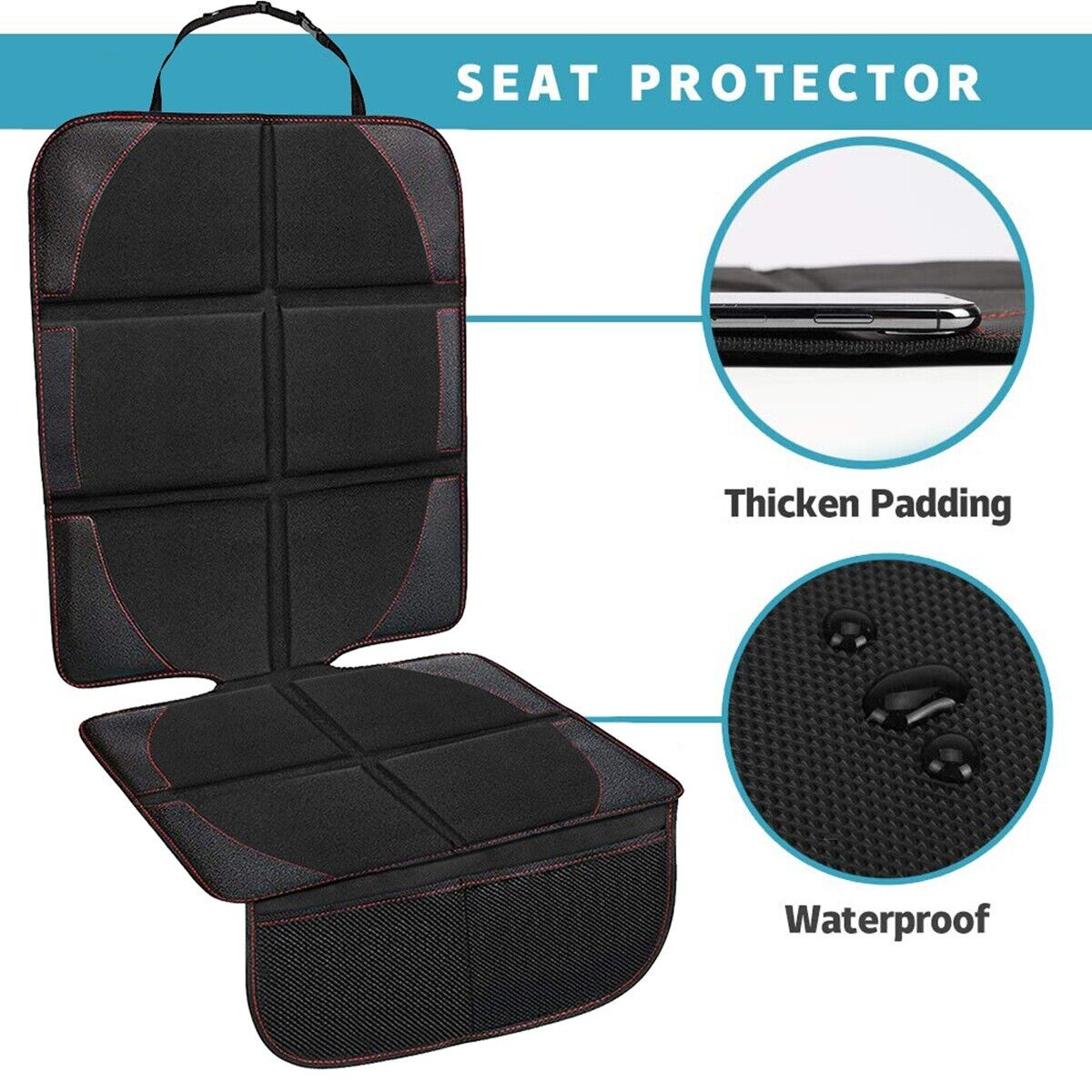 Universal Non-Slip Mesh Pockets Car Seat Protector from Chil