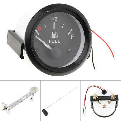 "NEW Car Fuel Level Gauge Universal Fuel Sensor E-1/2-F Pointer Meter 12V 2"" 52mm"