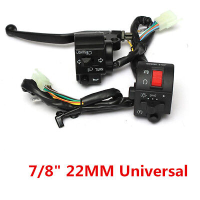 """Motorcycle 7/8"""" / 22mm Handlebar Horn Turn Signal Electrical Start Switch 12V DC"""