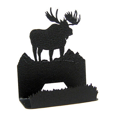 Moose Black Metal Business Card Holder