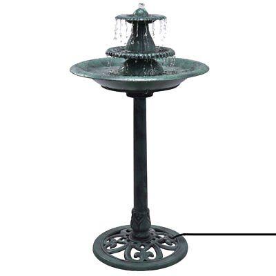 3 Tier Fountain Garden Outdoor Decor Pedestal Bird Bath Water Fountain W/Pump