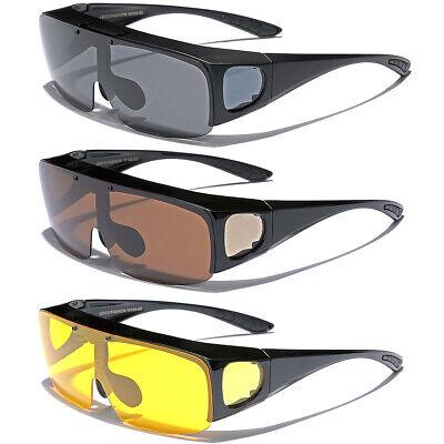 Large FLIP UP POLARIZED FIT OVER Sunglasses Cover Prescription Rx eyeglasses (Polarized Fit Over Sunglasses)