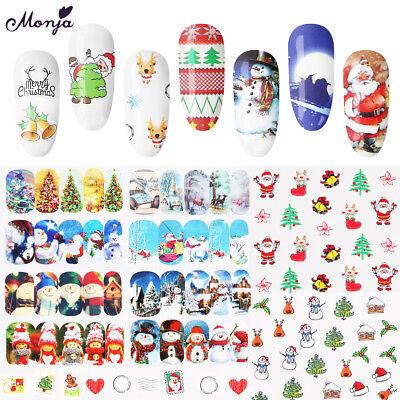 (48 Sheet Nail Art Christmas Tree Snowman Snowflake Water Transfer Foil Stickers )