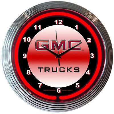 GMC Trucks Neon Clock - GM - Truck - Parts Sales Service - Sierra - Canyon Gmc Canyon Truck Parts