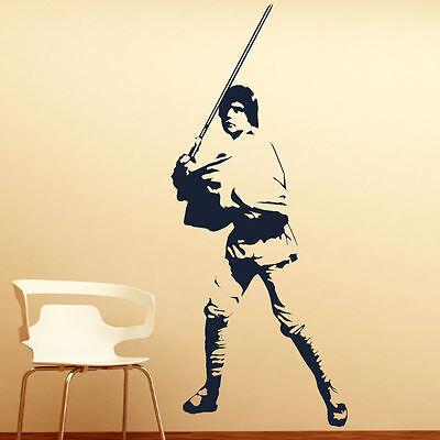 LARGE LUKE SKYWALKER STAR WARS > 6FT! WALL ART BEDROOM MURAL GIANT STICKER DECAL