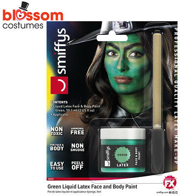 AC194 Green Witch Poison Ivy Liquid Latex Halloween Makeup Costume FX Make Up