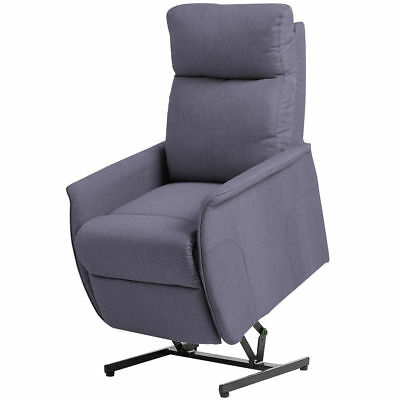Electric Power Lift Chair Recliner Sofa Fabric Padded Seat Living Room w/Remote