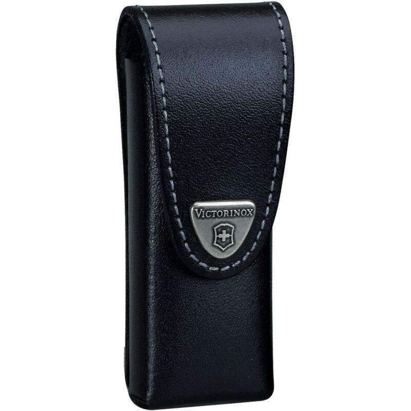 Victorinox SwissTool and Lockblade Leather Belt Pouch - Medium - Black