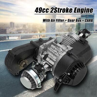 2-Stroke Engine W/ Transmission Motor Pocket 49cc Pit Dirt Bike Mini Quad US ,.