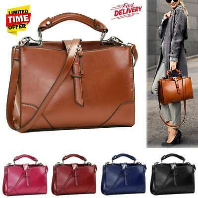 Women Ladies Leather Handbag Shoulder Bag Satchel Crossbody