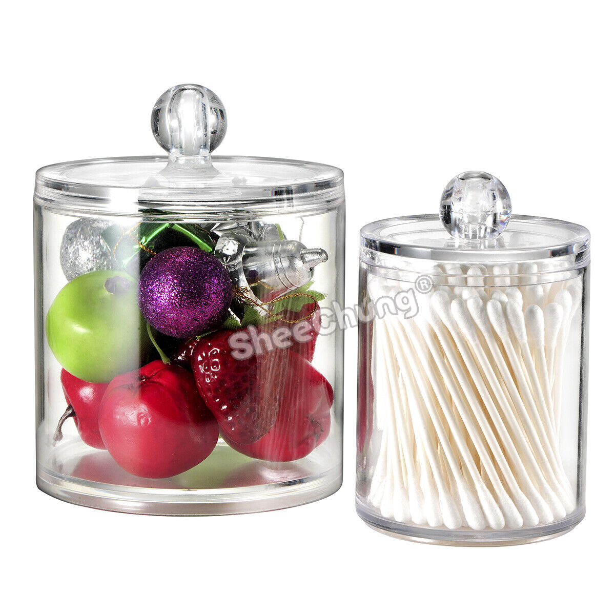 Apothecary Jars Qtip Holder Canister Jar for Cotton Swab Bal