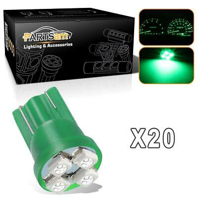 20x Green T10 Instrument Cluster Panel Gauge LED Light Bulb Kit 4-3528-SMD 12V