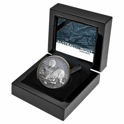 2019 Niue 1 oz Silver Australia at Night Kangaroo Black Proof $1 Coin SKU59031
