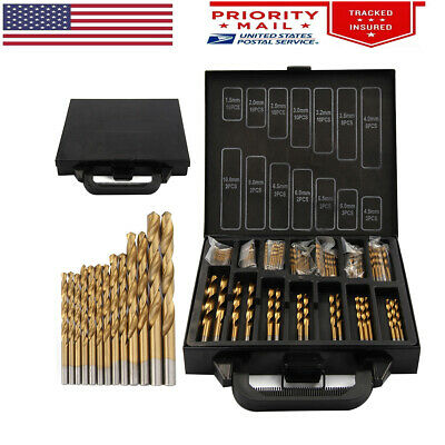 99 Pcs Hss High Speed Titanium Coated Twist Drill Bit Set For Rotary Tool