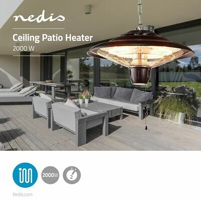 Nedis Patio Heater With Ceiling Mounting 2000W IP24 HTPA13EBK